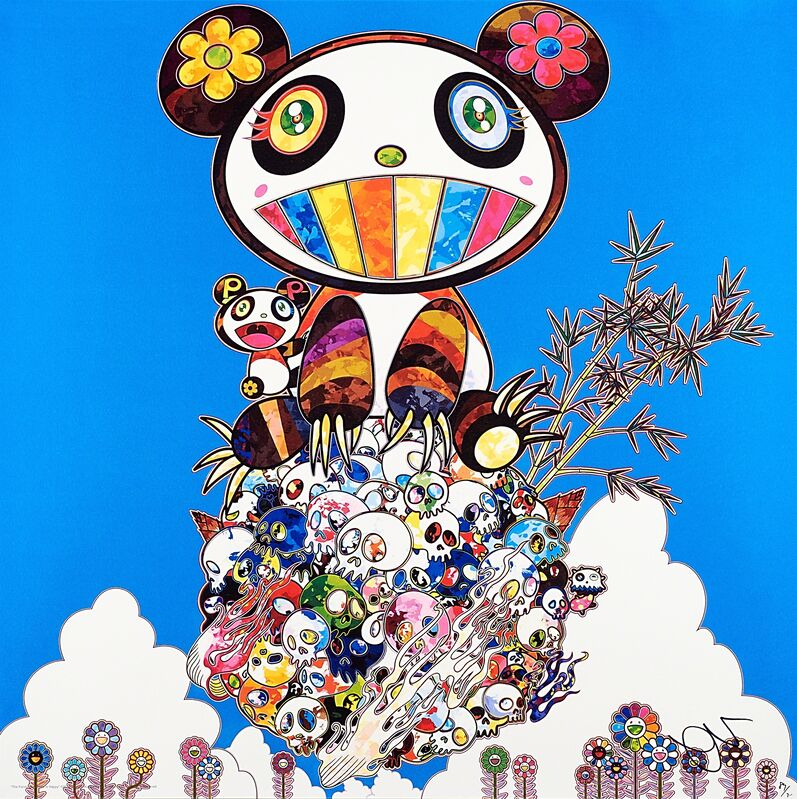 Takashi Murakami, 'The Pandas Say They're Happy', 2014, Print, Offset lithograph in colors, Rago/Wright