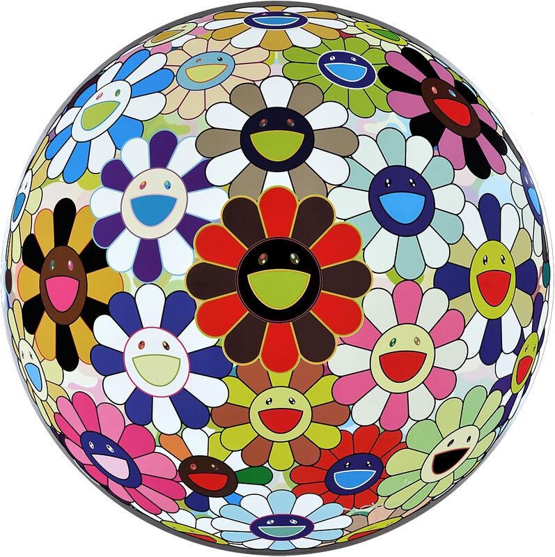 Takashi Murakami, 'Flower Ball (Lots of Colors) ', 2016, Print, Offset print, Pinto Gallery