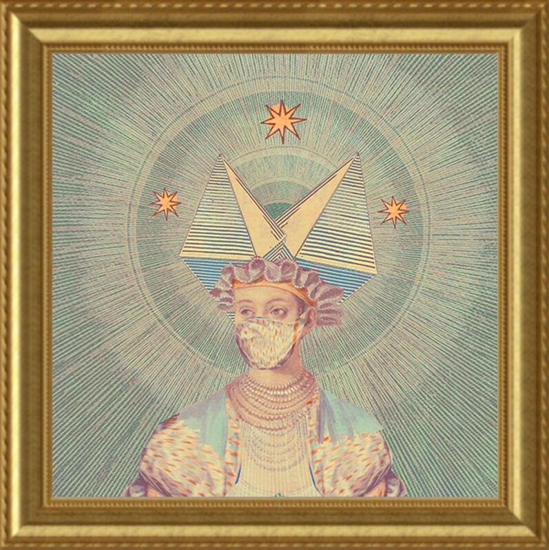 Deming King Harriman, 'Isolation Art:  Masks X', 2021, Print, Digital collage print, Deep Space Gallery