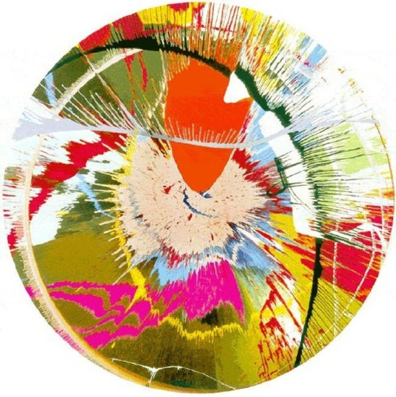 Damien Hirst, 'Beautiful, Galactic, Exploding (Spin)', 2001, Print, 24-colour screen print. Edition of 500. Framed., The Drang Gallery