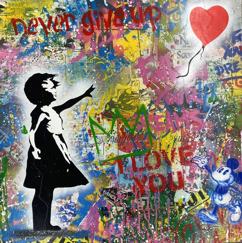 Mr. Brainwash, 'Untitled ', 2020, Drawing, Collage or other Work on Paper, Mixed media on paper, Arushi Arts