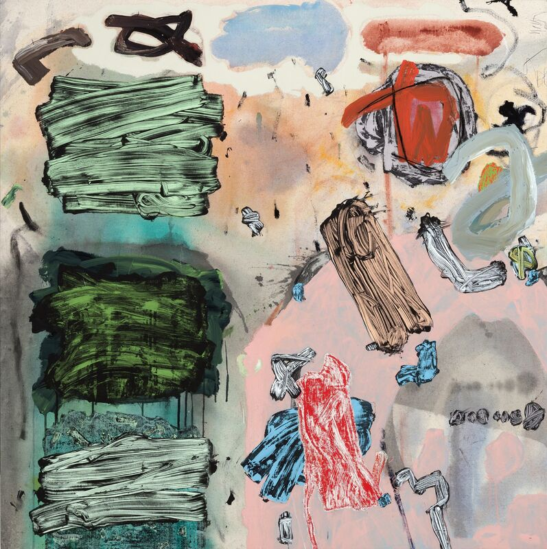 Doyle Gertjejansen, 'Totem', 2017, Painting, Raw canvas sized with polymer medium, chalk, pastel, charcoal,  conte crayon, graphite pencil, and custom acrylic, Callan Contemporary
