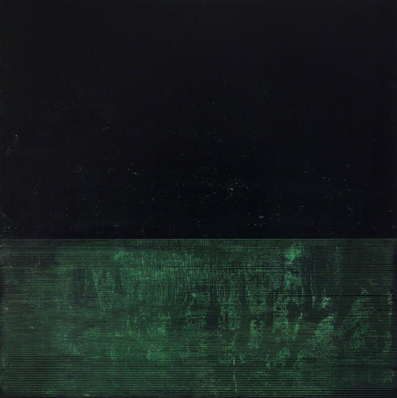 Kate Shepherd, 'Tar ', 2016, Painting, Etching ink and enamel on wood panel, Anthony Meier Fine Arts