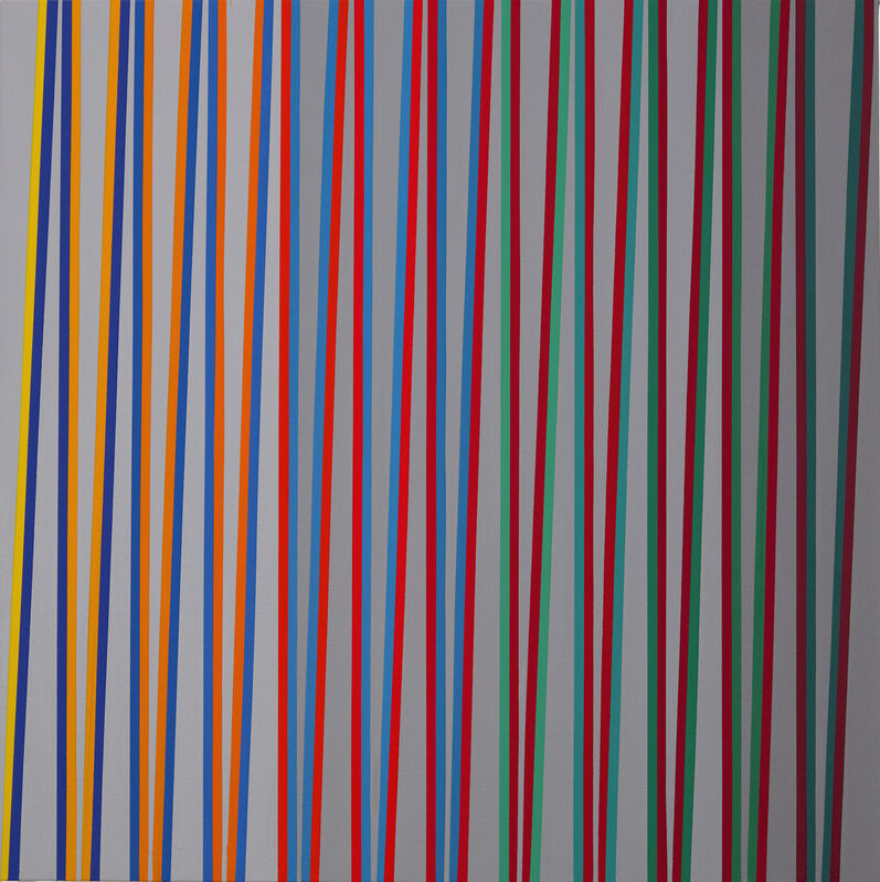 Gabriele Evertz, 'From Yellow to Red over Bluegreen, ZigZag Series', 2019, Painting, Acrylic on canvas, Minus Space