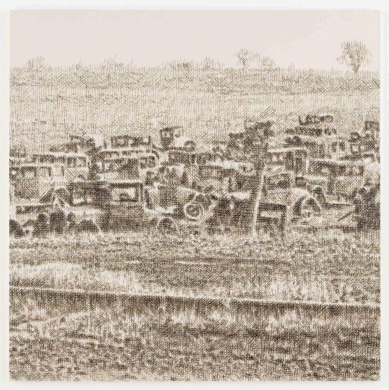 Wayne Gonzales, 'Joe's Auto Graveyard, Pennsylvania, 1936 (Walker Evans)', 2015, Painting, Acrylic on canvas, Stephen Friedman Gallery