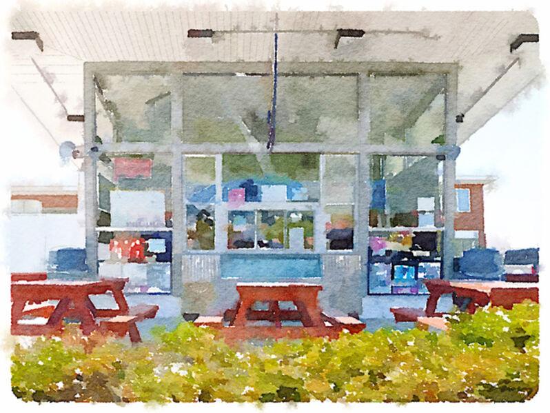 Anne M Bray, 'Snack Shack, CT', 2014