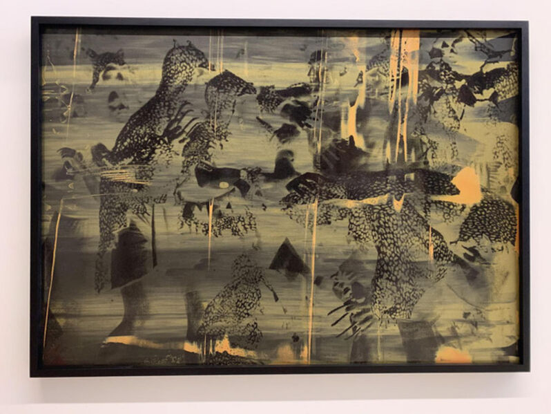 Hank Willis Thomas, 'Vivid Imagination (gold and orange on black)', 2019