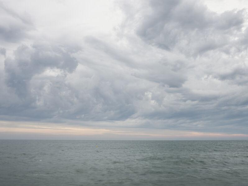 Donald Weber, 'Omaha Beach - October 3, 2013, 8:10am. 17ºC, 93% RELH, Wind ESE, 13 Knots. VIS: Fair, Moderate Rain', 2013