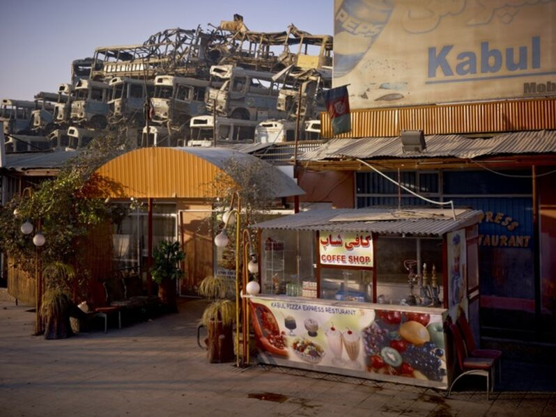 Simon Norfolk, 'Kabul 'Pizza Express' Restaurant Behind The Municipal Bus Depot ', 2010