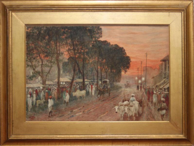 Walter Crane, 'The Chandni Chowk, Delhi, Evening After the Rain', 1907