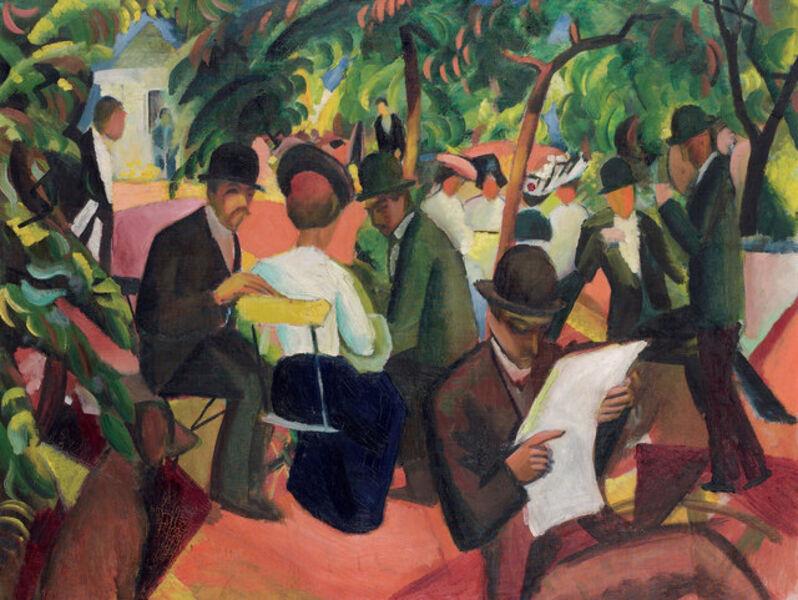 August Macke, 'Gartenrestaurant (Garden Restaurant)'