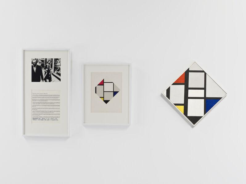 Douglas Huebler, 'Variable Piece #70: 1971 (In Process) Global, Crocodile Tears: The Great Corrector (Mondrian)', 1987