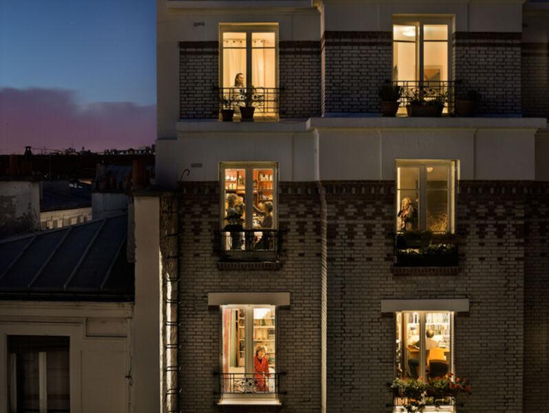 Gail Albert Halaban, 'Rue de Belleville, Paris, 20e, le 1 novembre', 2012