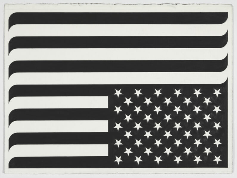 Banks Violette, 'No Title/American Flag (Nashville)', 2019