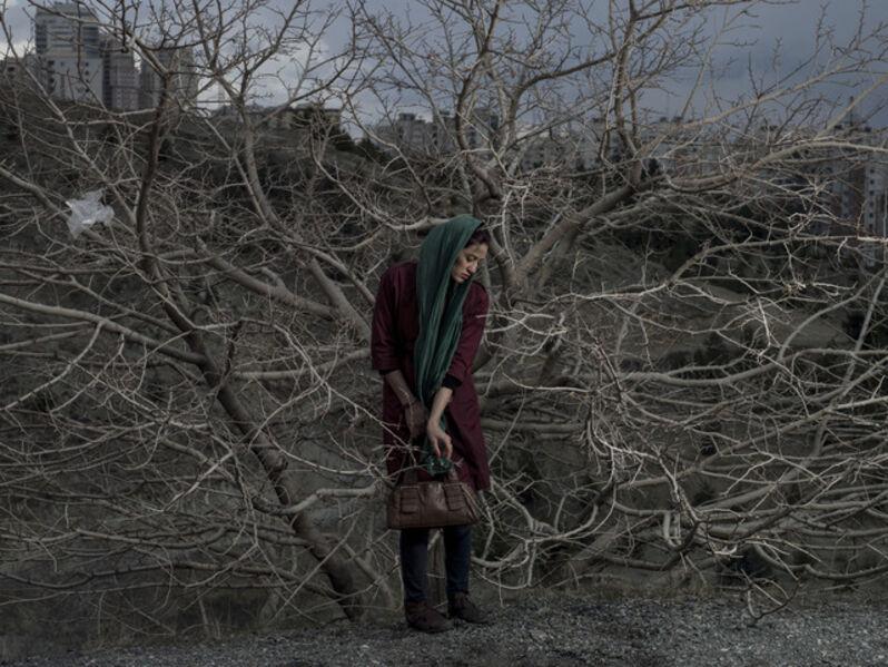 "Newsha Tavakolian, 'Portrait of Somayyeh. ""Blank Pages of an Iranian Photo Album""', 2014"