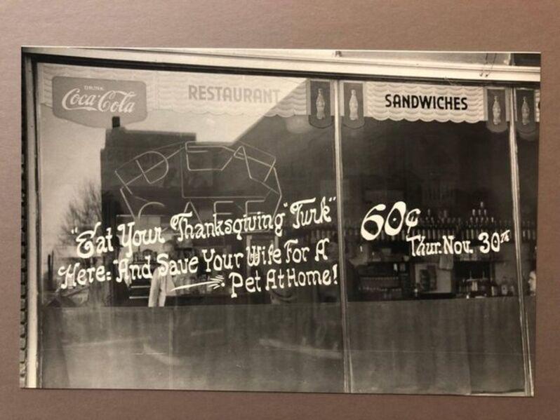 Marion Post Wolcott, 'Virginia, Thanksgiving Turkey Diner Vintage Silver Gelatin Print FSA WPA', 1940-1949