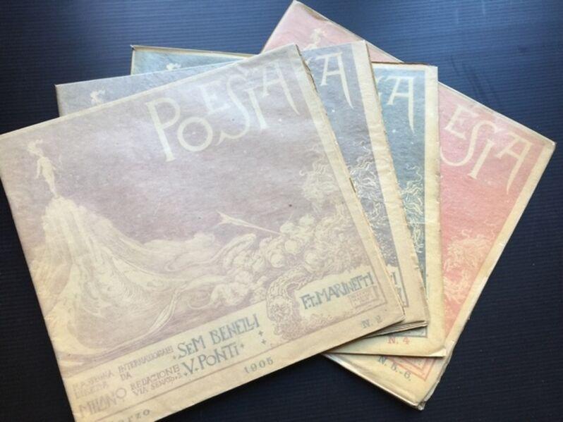 Filippo Tommaso Marinetti, 'Poesia. International Magazine by F.T. Marinetti - Complete Collection', 1905-1909