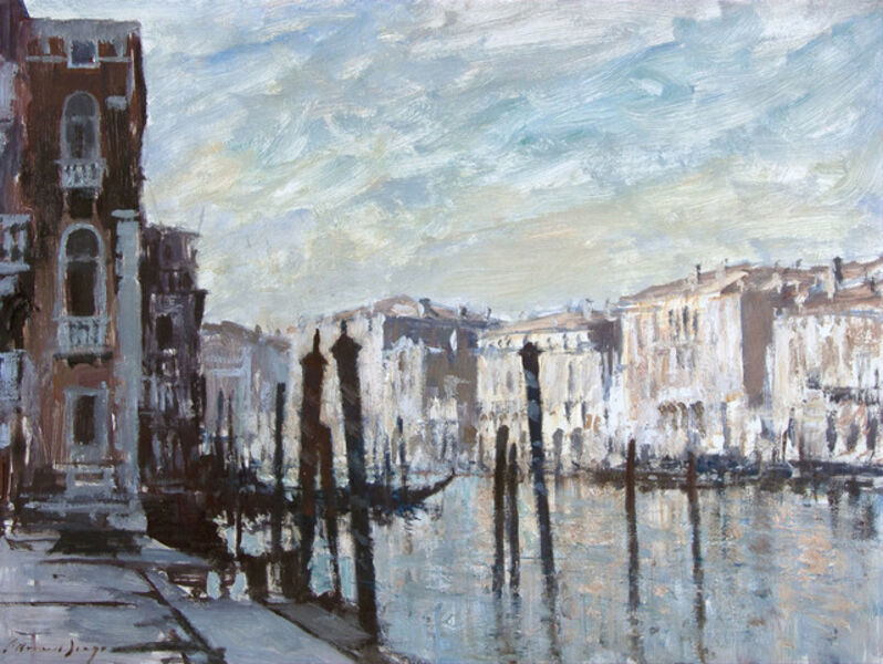 Edward Seago, 'Mooring Posts, Grand Canal, Venice', 20th Century