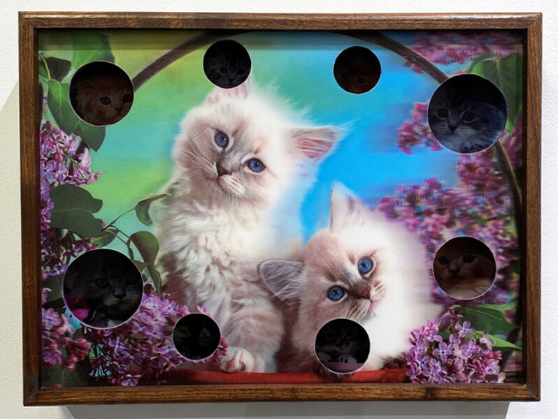 Adrian Wong, 'LENTICULAR COMPOSITION no. 13 (Eight Cats/Two Cats)', 2020