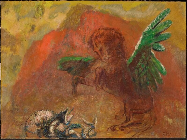 Odilon Redon, 'Pegasus and the hydra', After 1900
