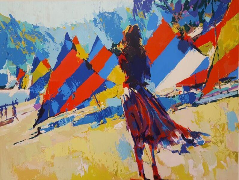 Nicola Simbari, 'Girl with Sailboats', ca. 1978