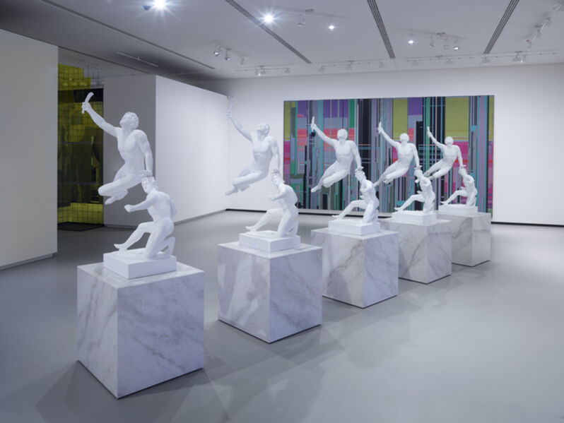 Xu Zhen 徐震, ' e Soldier of Marathon Announcing Victory, a Wounded Galatian', 2014
