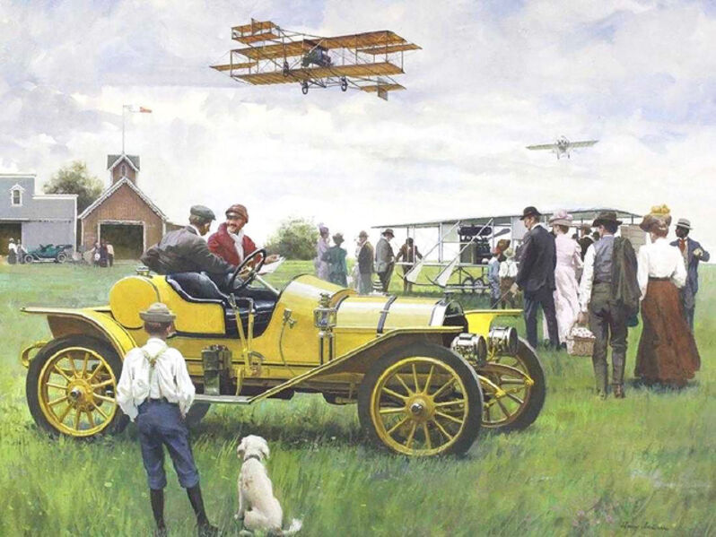 Harry Anderson, 'Those Wonderful Flying Machines', 1970