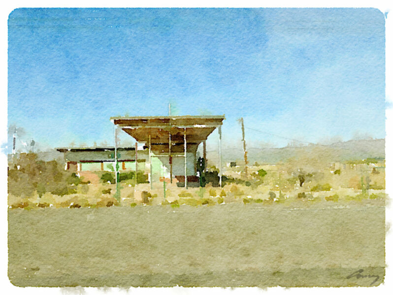 Anne M Bray, 'Gas Station, TX', 2014