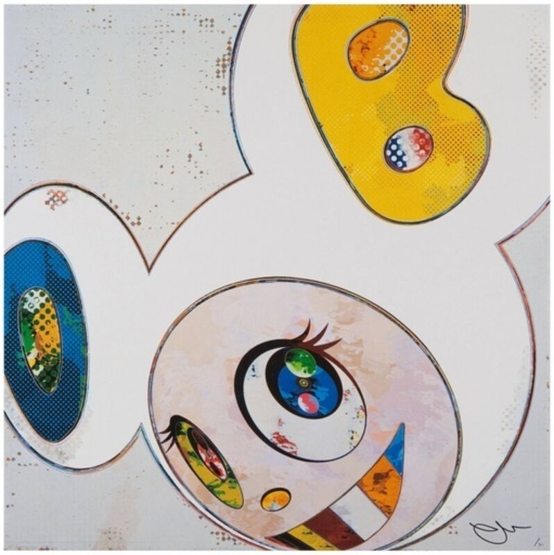 Takashi Murakami, 'And Then x 6 (White: The Superflat Method, Blue and Yellow Ears)', 2013, Print, Offset lithograph, Dope! Gallery