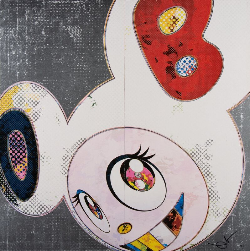 Takashi Murakami, 'DOB in Pure White Robe (Navy and Vermillion)', 2013, Print, Offset lithograph in colors on smooth wove paper, Heritage Auctions