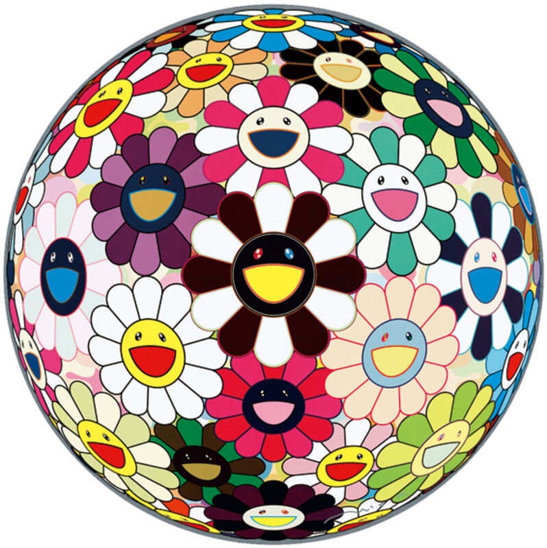 Takashi Murakami, 'Flower Ball 3D Brown', 2010, Print, Offset lithograph, Vogtle Contemporary