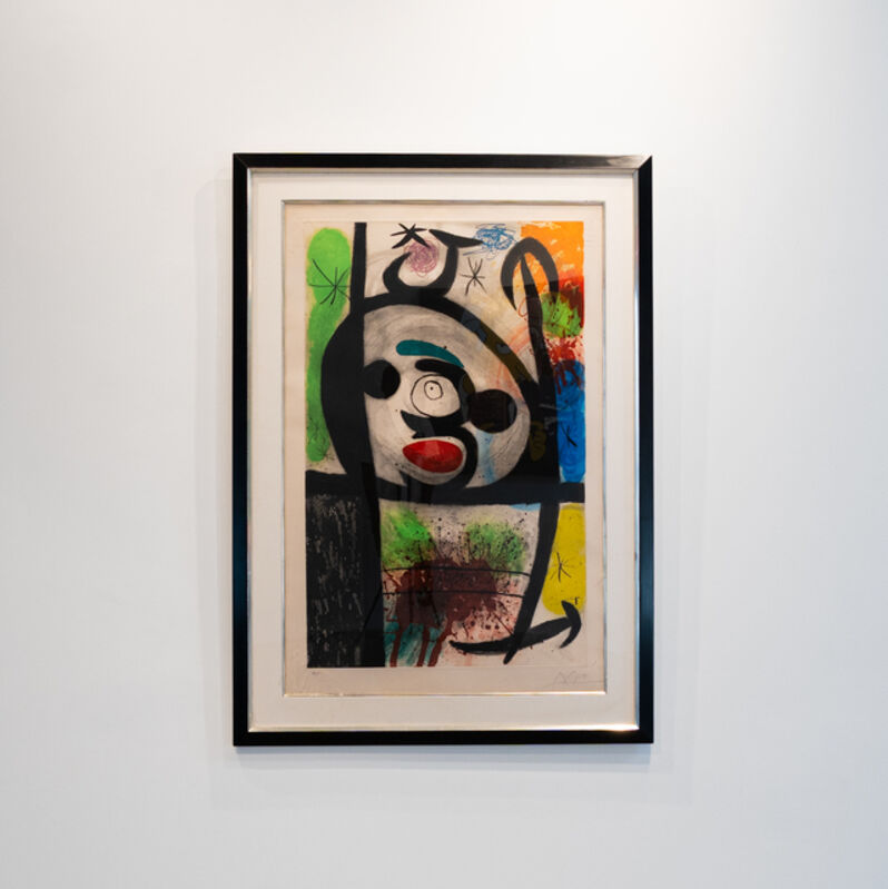 """Joan Miró, '""""La Femme Toupie"""" (The Spinning Woman)', 1974, Painting, Etching and Aquatint in colors on Arches paper with """"MAEGHT"""" watermark. With Full Margins, ArtLife Gallery"""