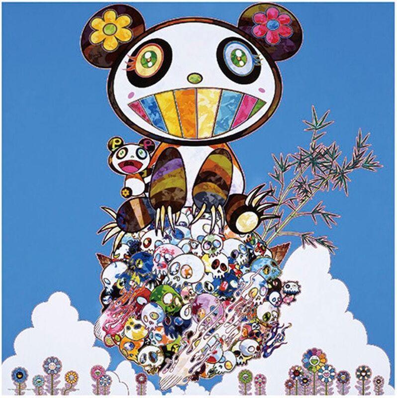 Takashi Murakami, 'Panda Family - Happiness', 2016, Print, Four-color offset printing on silver paper, Upsilon Gallery