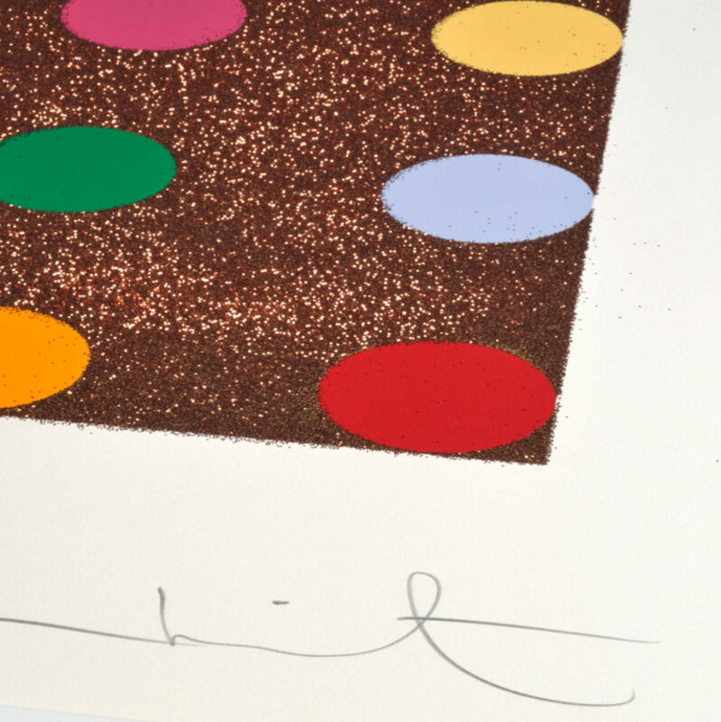 Damien Hirst, 'Damien Hirst, Carvacrol (with Bronze Glitter)', 2008, Print, Silkscreen with Bronze Glitter, Oliver Cole Gallery