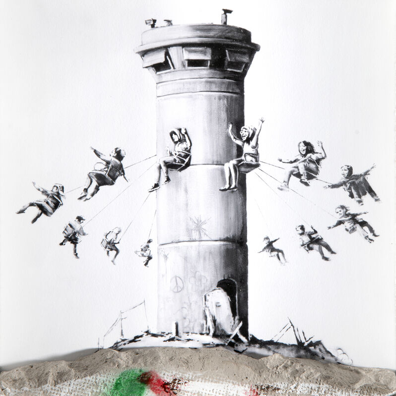 Banksy, 'Walled Off Hotel Box Set', 2016, Mixed Media, Mixed media, lithograph in colours on paper with a chunk of concrete, Tate Ward Auctions