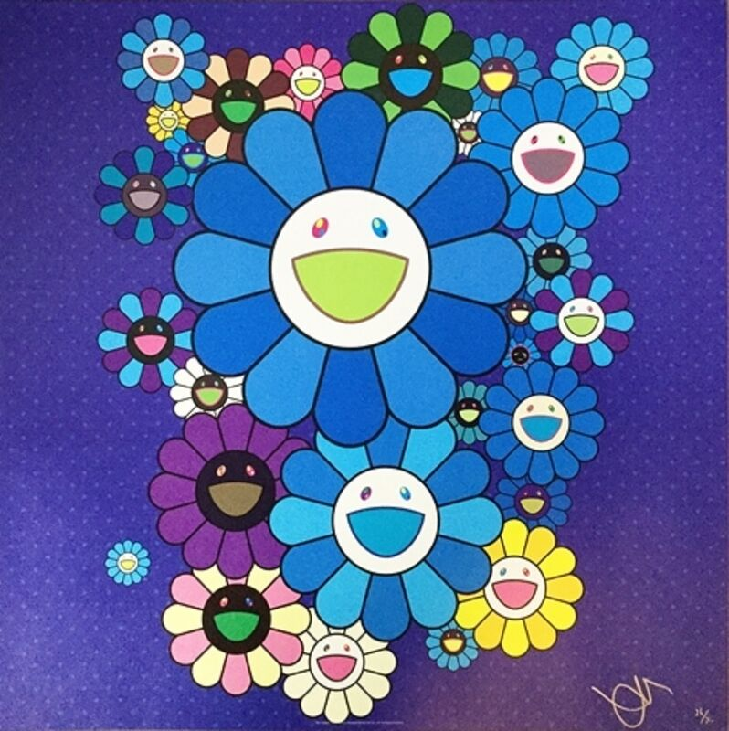 Takashi Murakami, 'Blue Velvet', 2016, Print, Offset lithograph in colours on wove paper, Lougher Contemporary