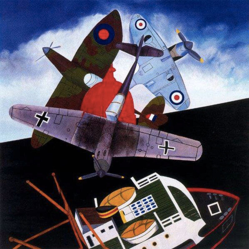 Malcolm Morley, 'Battle of Britain', 2005, Print, Silkscreen on Arches Paper, ClampArt