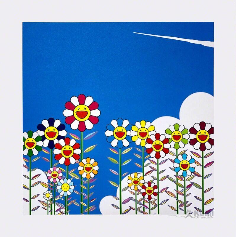 Takashi Murakami, 'Vapor Trail in the Blue Summer Sky', 2018, Print, Color Lithograph, Kumi Contemporary / Verso Contemporary