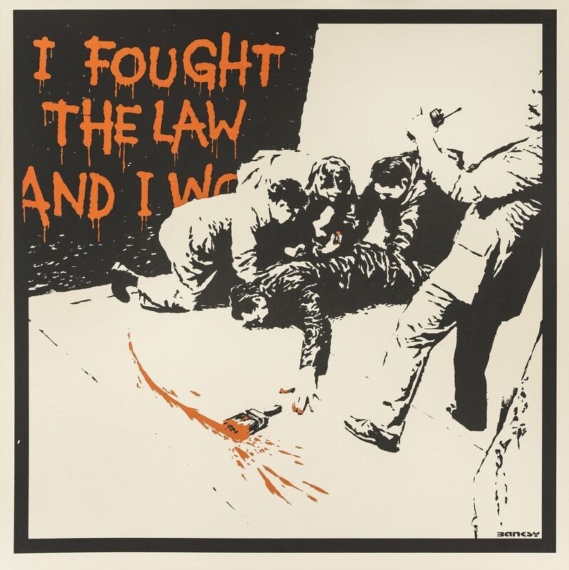 Banksy, 'I Fought the Law', 2005, Print, Screenprint in colours, Forum Auctions
