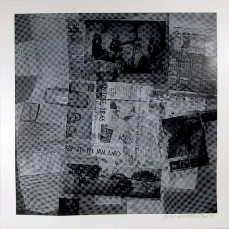 Robert Rauschenberg, 'Surface Series From Currents, #37 and #50', 1970, Print, Hand-Printed Silkscreen on Aqua B 844 Paper, RoGallery Gallery Auction