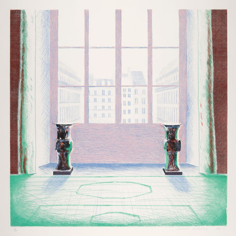David Hockney, 'Two Vases in the Louvre', 1974, Print, Etching and Aquatint on Inveresk mould-made paper, Gerrish Fine Art