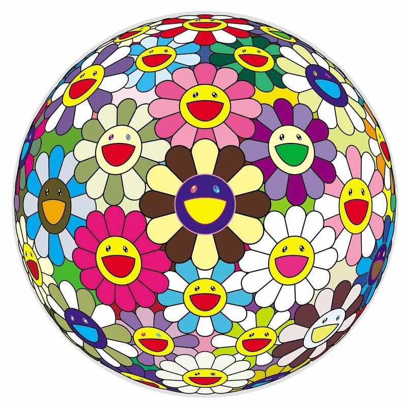Takashi Murakami, 'Flower Ball 2', 2002, Painting, Acrylic on canvas, wood, MCA Chicago