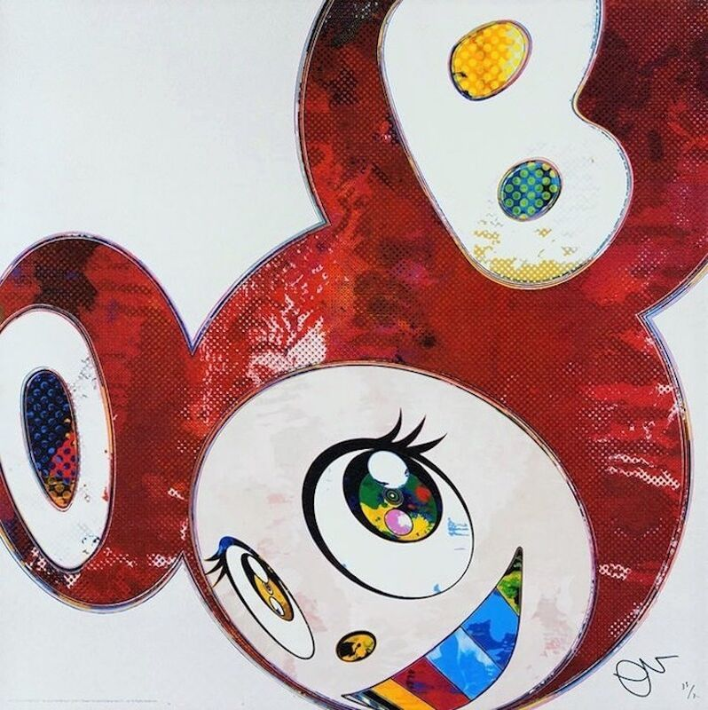 Takashi Murakami, 'And Then... (Red)', 2016, Print, Offset lithograph in colors with cold stamping, michael lisi / contemporary art
