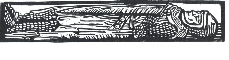 Miriam Cullen, 'Say Good Knight', 2009, Print, Linoprint, Open Bite Printmakers