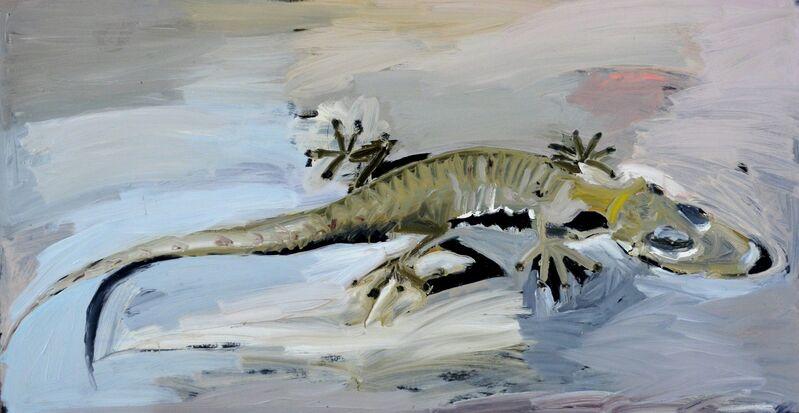 Boaz Noy, 'Gecko', 2014, Painting, Oil on mazonite, Rosenfeld Gallery