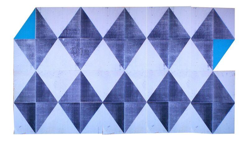 Juan E Odriozola, 2015, Installation, Papel afiche y fotocopias sobre pared, María Casado