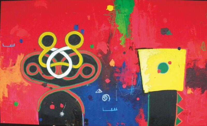 Marcel Pinas, 'Tembe anga Kibiiman 1 ', 2014, Painting, Acrylic, oil collage on canvas, SmithDavidson Gallery