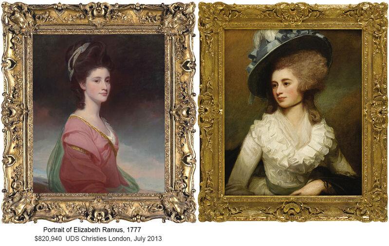George Romney, 'Portrait of Lady Caroline Price', 1774, Painting, Oil on canvas, Robert Funk Fine Art