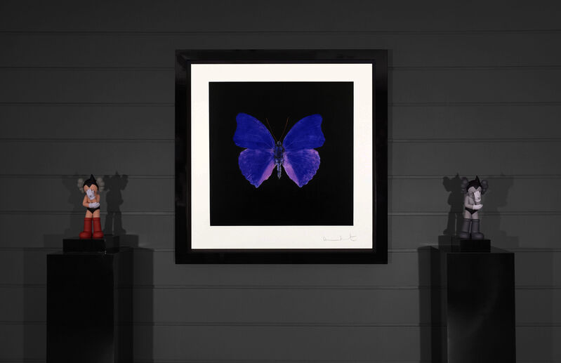 Damien Hirst, 'Butterfly Souls Etching, Cobalt ', 2007, Print, Etching on Velin Arches Paper, Arton Contemporary