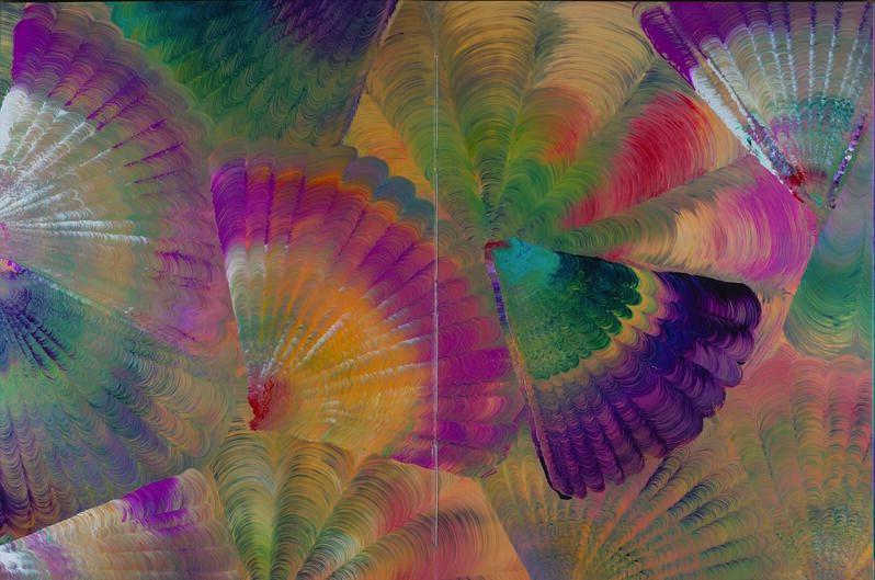 Merike Estna, 'Pattern Book I', 2013, Painting, Acrylic, paper, Pera Museum